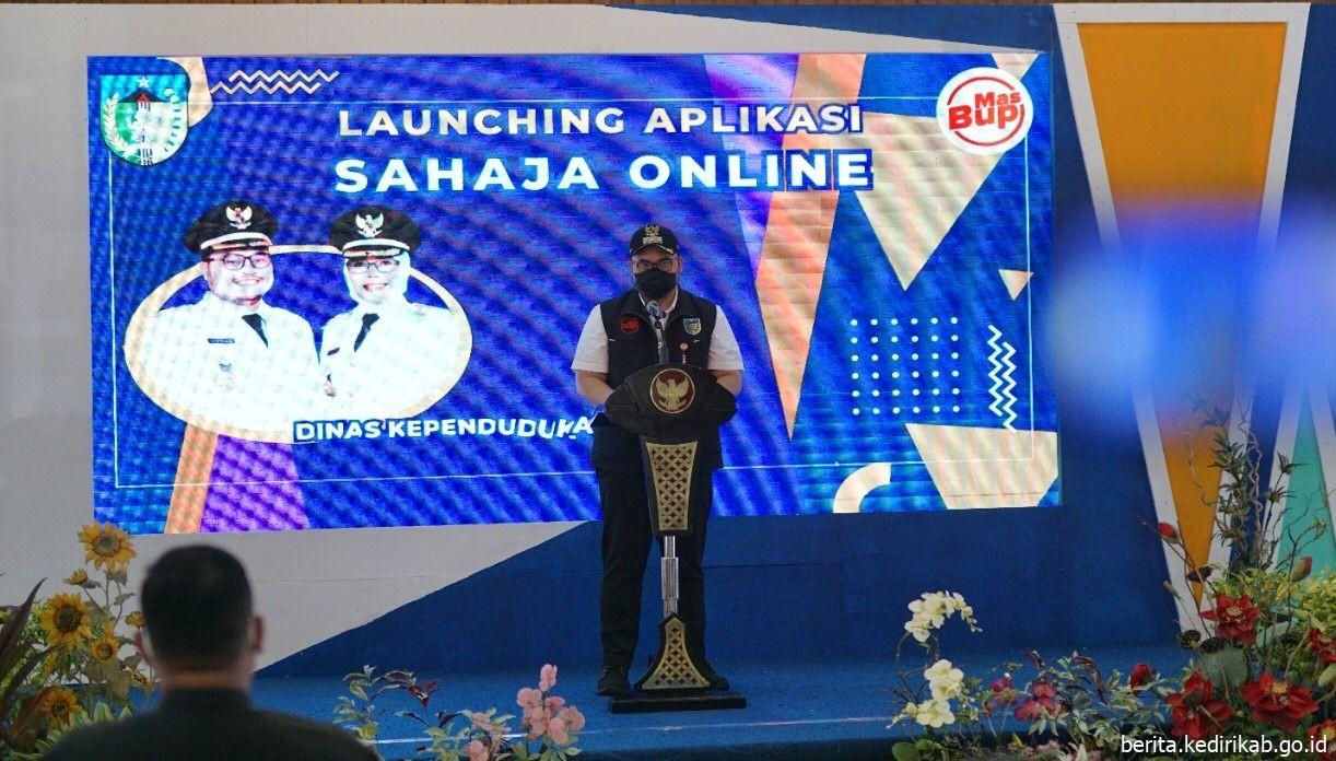 Pemkab Kediri Launching Aplikasi Sahaja Online
