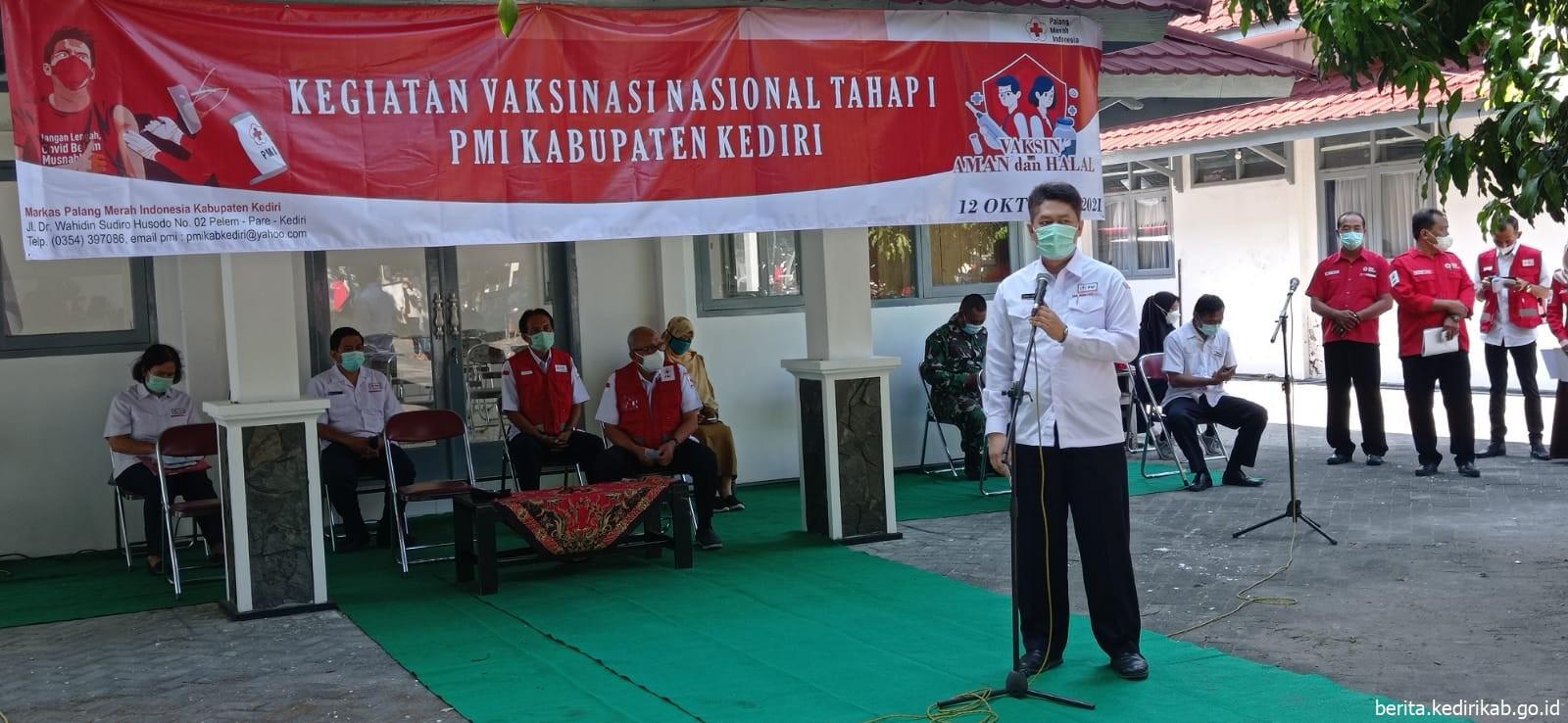 PMI Kabupaten Kediri Gelar Vaksinasi Massal Tahap I